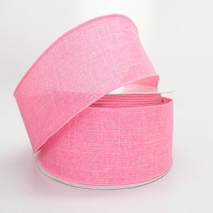 10 yards Petal Pink Linen Wire Edge Ribbon