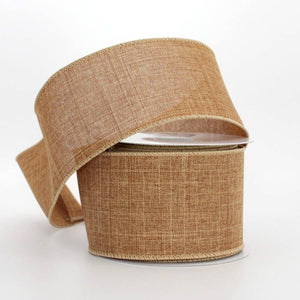 10 yards Camel Linen Fall Wire Edge Ribbon