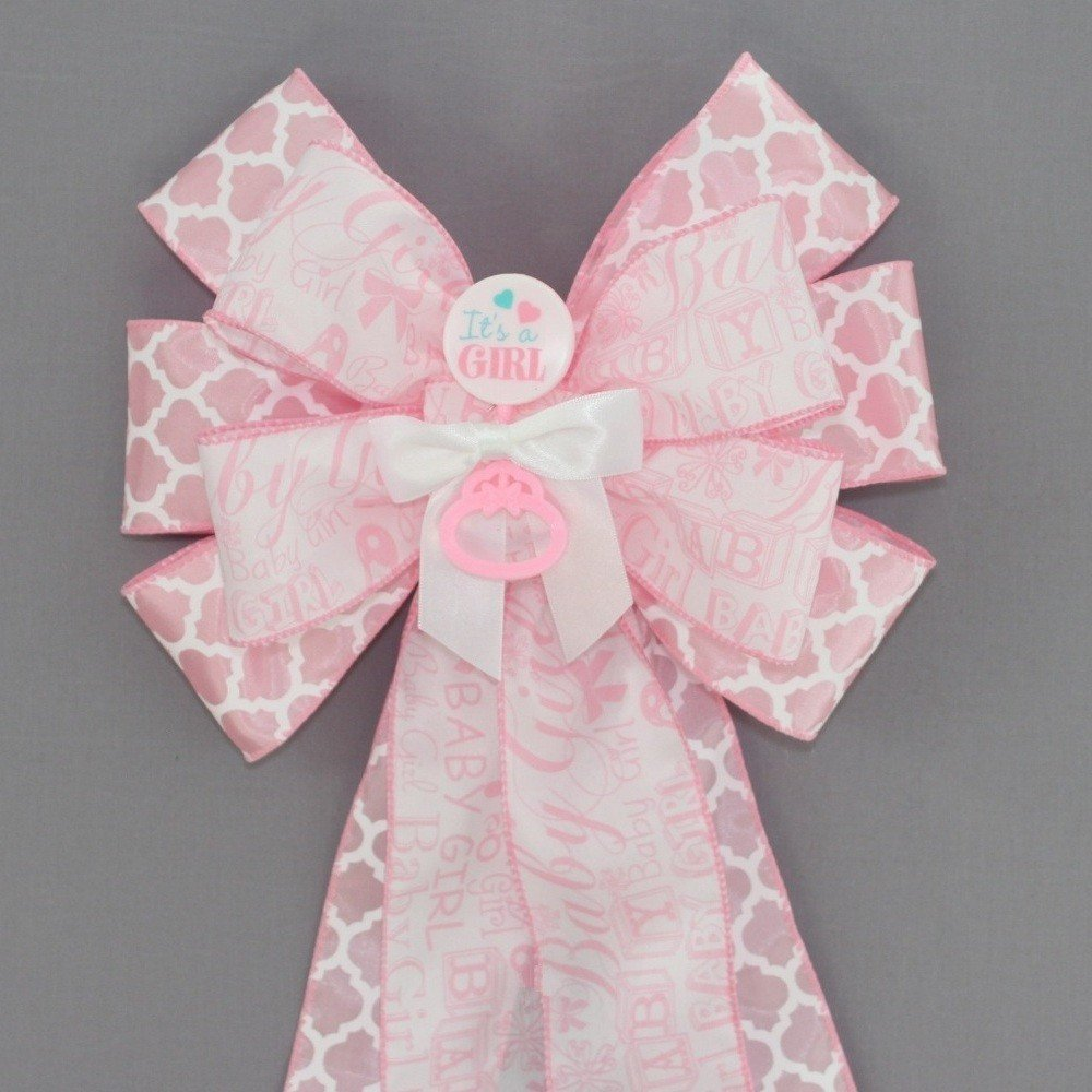 It's a Girl Pink Baby Shower Bow