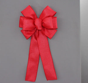 Red Rustic Outdoor Bow