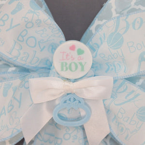 It's a Boy Blue Baby Shower Bow
