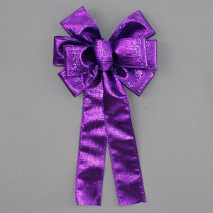 Purple Metallic Christmas Wreath Bow
