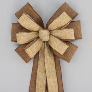 Brown Fall Rustic Wreath Bow