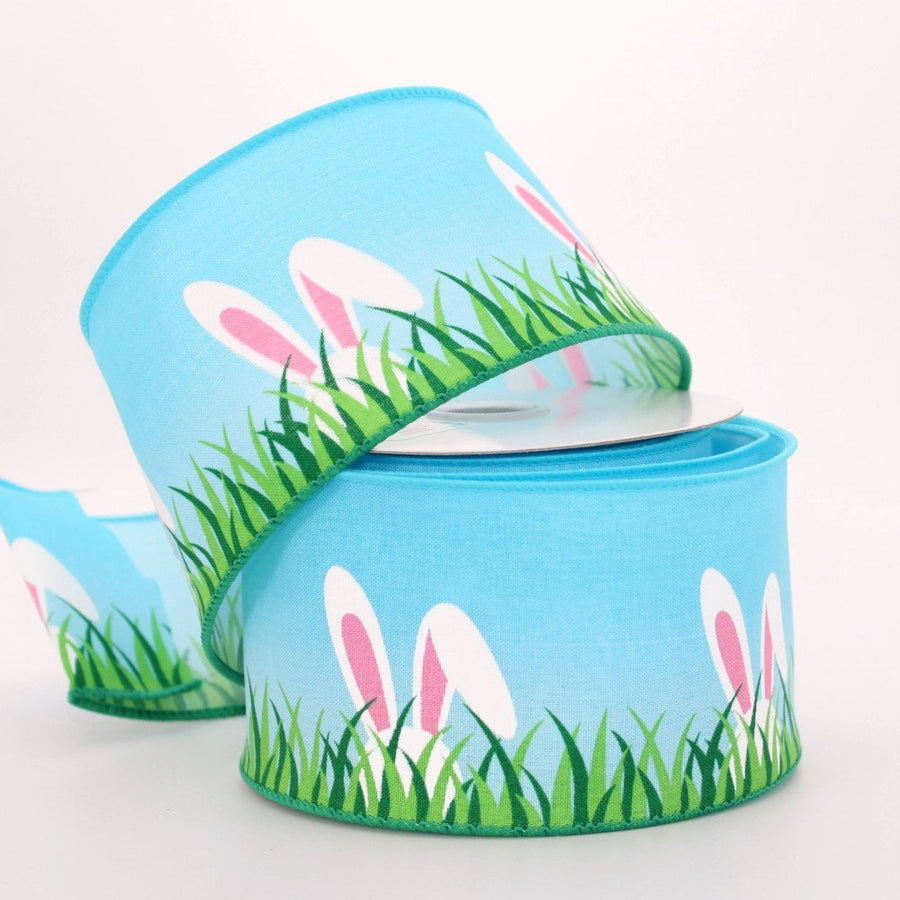 10 yards Peeking Bunny Ears Easter Wire Edge Ribbon