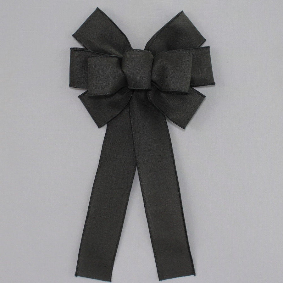 Black Rustic Wreath Bow
