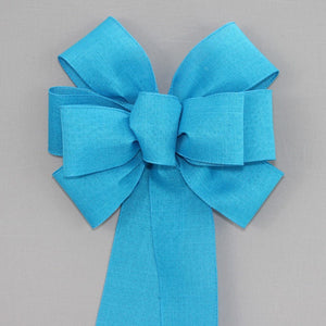 Dark Turquoise Rustic Wreath Bow