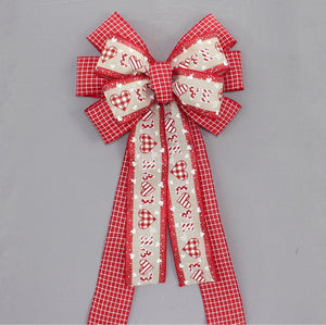 Patterned Love Valentine's Day Wreath Bow