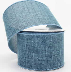 10 yards Denim Wire Edge Ribbon