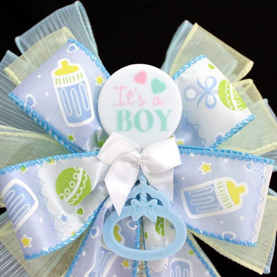 It's a Boy Baby Shower Bow Cake Topper - Package Perfect Bows