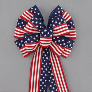 Stars and Stripes Patriotic Bow - Package Perfect Bows