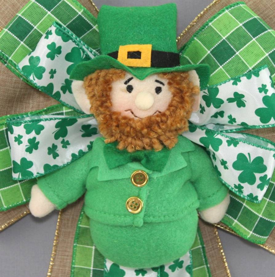 Leprechaun Plaid Rustic St. Patrick's Day Bow - Package Perfect Bows
