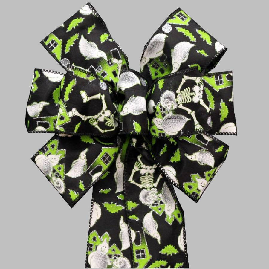 Haunted House Spooky Halloween Bow - Package Perfect Bows - 1