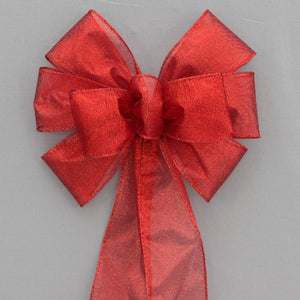 Red Metallic Christmas Holiday Bow - Package Perfect Bows