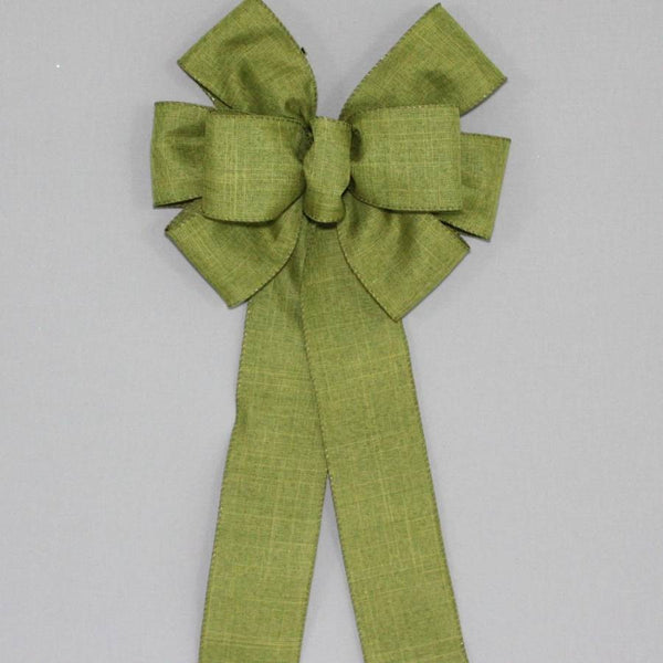Moss Green Rustic Fall Wreath Bow - Package Perfect Bows - 1