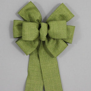 Moss Green Rustic Fall Wreath Bow - Package Perfect Bows