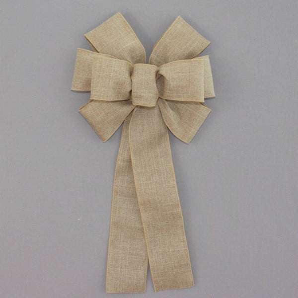Natural Rustic Linen Wreath Bow