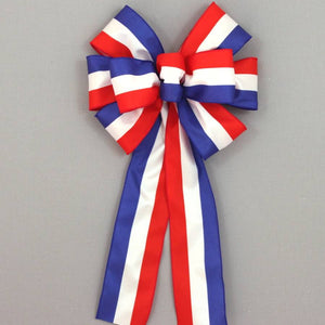 Patriotic Stripe Wreath Bow - Package Perfect Bows - 2