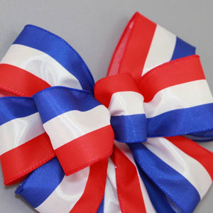 Patriotic Stripe Wreath Bow - Package Perfect Bows - 3