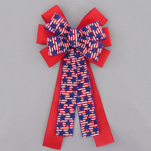 Striped Stars Patriotic Wreath Bow - Package Perfect Bows