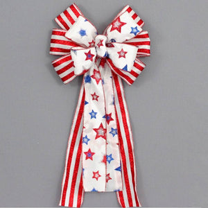 Patriotic Glitter Stars and Stripes Bow - Package Perfect Bows - 2