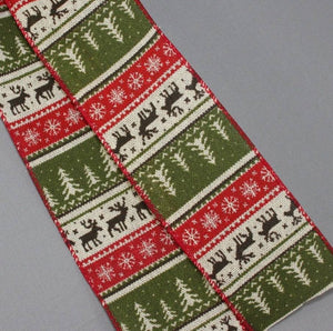 Rustic Sweater Pattern Christmas Bow - Package Perfect Bows - 3