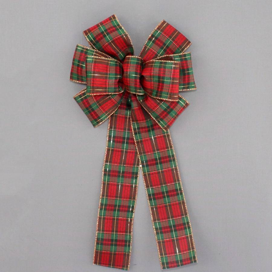 Tartan Plaid Christmas Bow - Package Perfect Bows