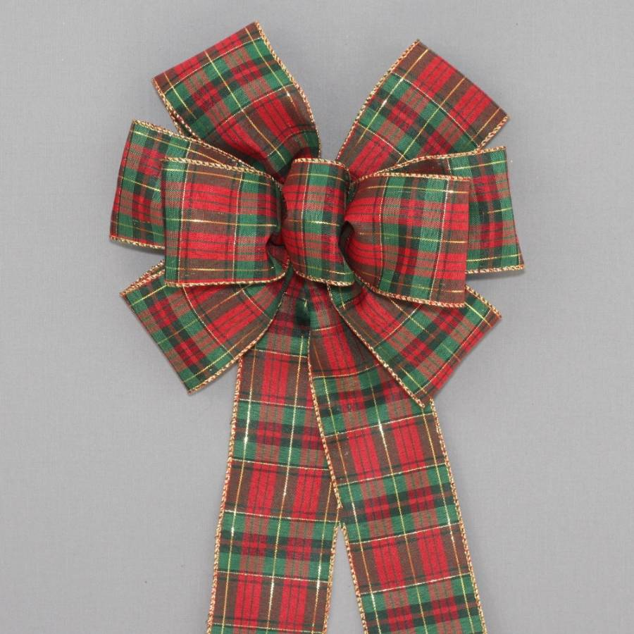 Tartan Plaid Christmas Bow