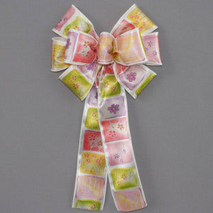Watercolor Floral Spring Bow - Package Perfect Bows