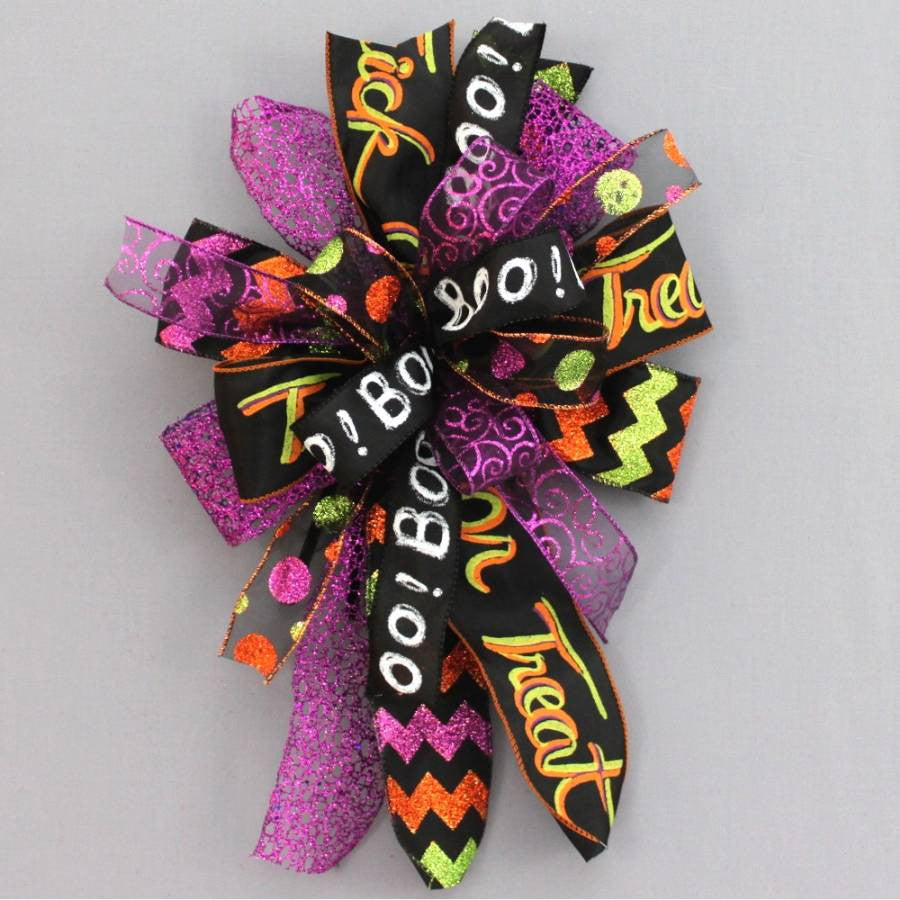 Whimsical Halloween Funky Wreath Bow - Package Perfect Bows - 1