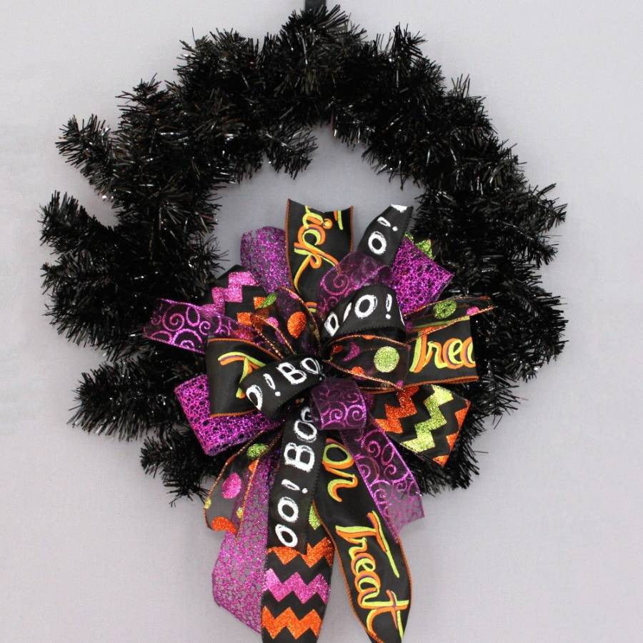 Whimsical Halloween Funky Wreath Bow - Package Perfect Bows - 2