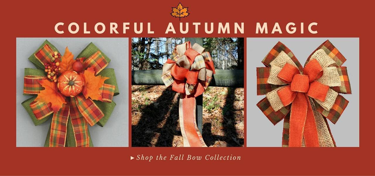 Fall Wreath Bows