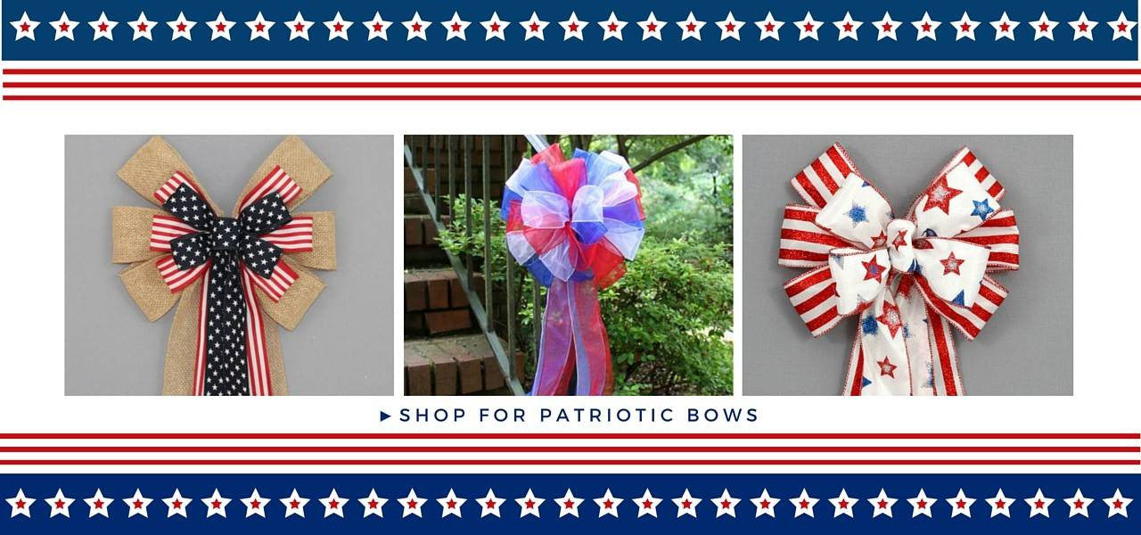 Patriotic Wreath Bows for Holiday Decor