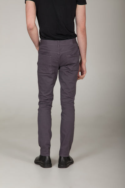 Uptown Storm Grey Fitted Chinos