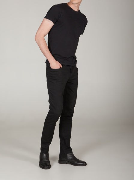 Uptown Onyx Black Fitted Chinos