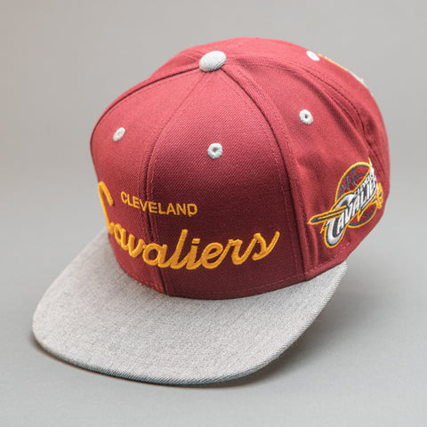 Cleveland Cavaliers Heather Special Script Snapback Hat
