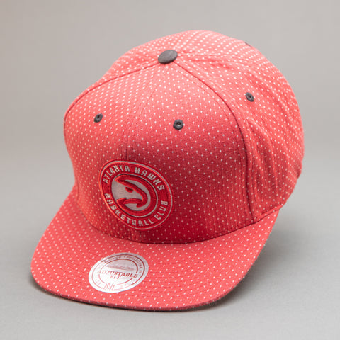 Atlanta Hawks Dotted Cotton Snapback Hat