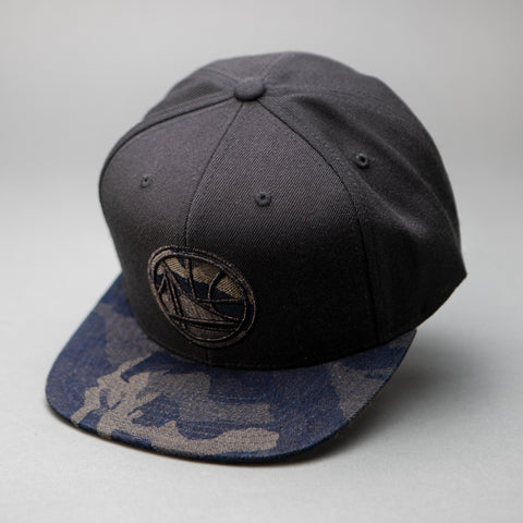 Golden State Warriors Denim Camo Snapback