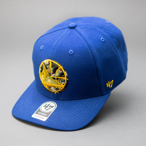 Golden State Warroiors '47 Camo Filled MVP Royal Hat