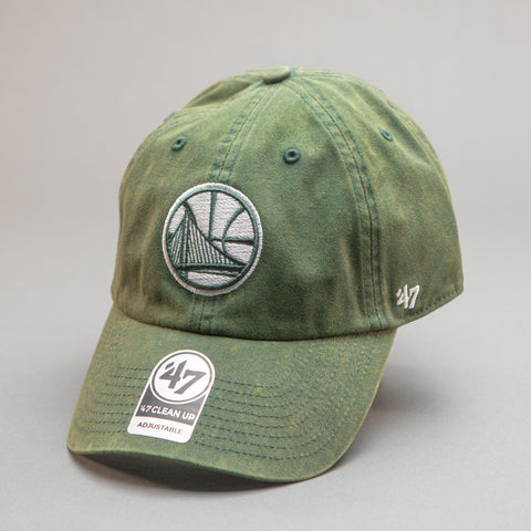 Golden State Warrios '47 Clean Up Hat - Dark Green Cement