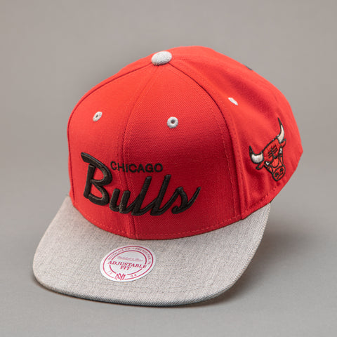 Chicago Bulls Heather Special Script Snapback Hat