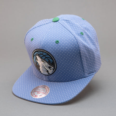 Minnesota Timberwolves Dotted Cotton Snapback Hat