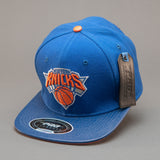 New York Knicks Team Logo Strapback Hat (Blue)