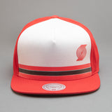 Portland Trailblazers Pacific Stripe Pinch Panel Snapback Hat
