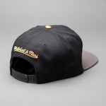 Golden State Warroiors Black HWC Gold Tip Snapback