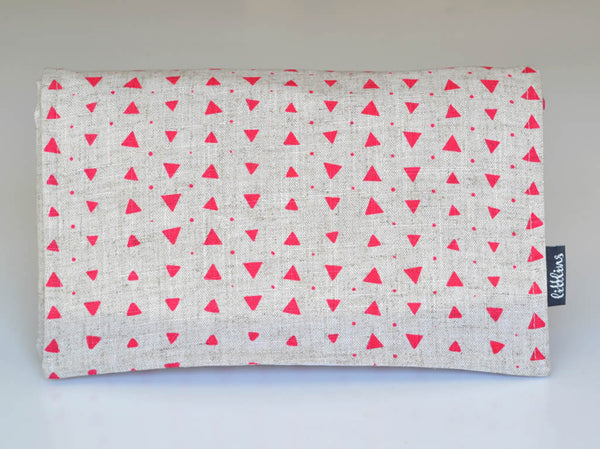Sample Stock - Fuchsia Geometric Nappy Wallet