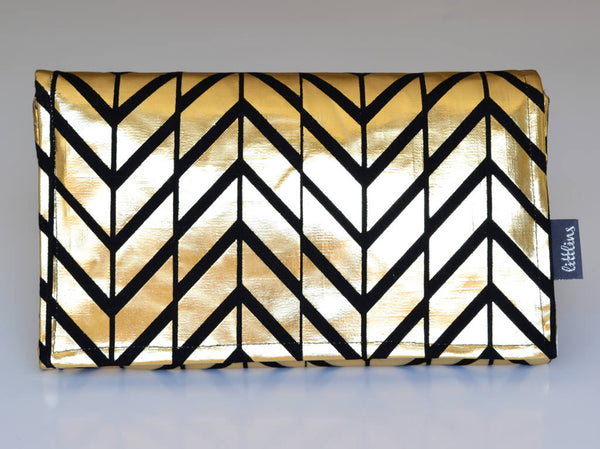Metallic Gold Nappy Wallet