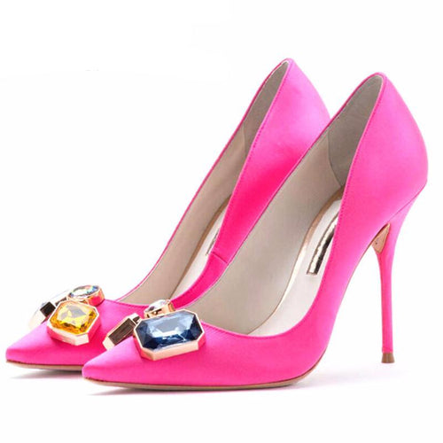 Rose Red Women Pumps Shoes