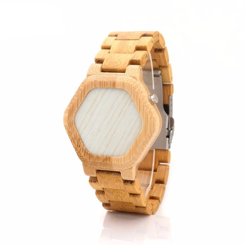 Night Vision Full Bamboo Wooden Watch