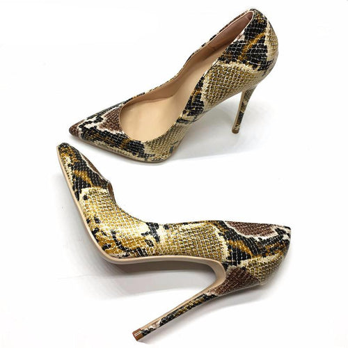 Top Quality Snake Printed Women Shoes