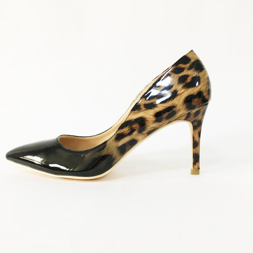 High Quality Leopard Gradual Change Color Women Pumps